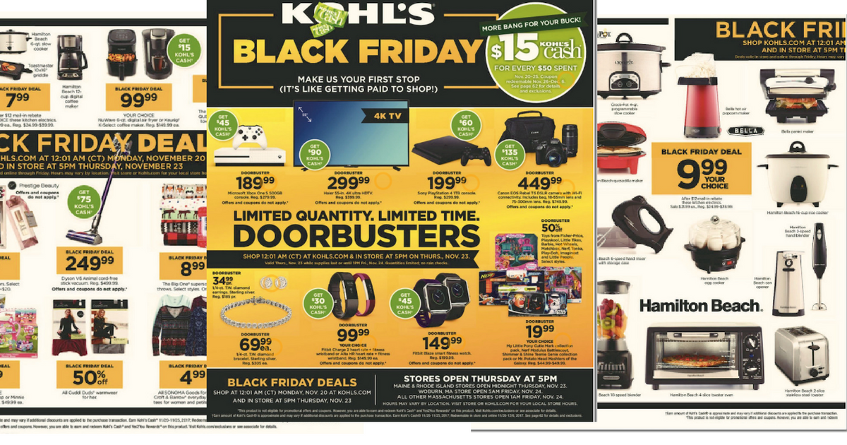Kohl S Black Friday Ad 2017 Mylitter One Deal At A Time