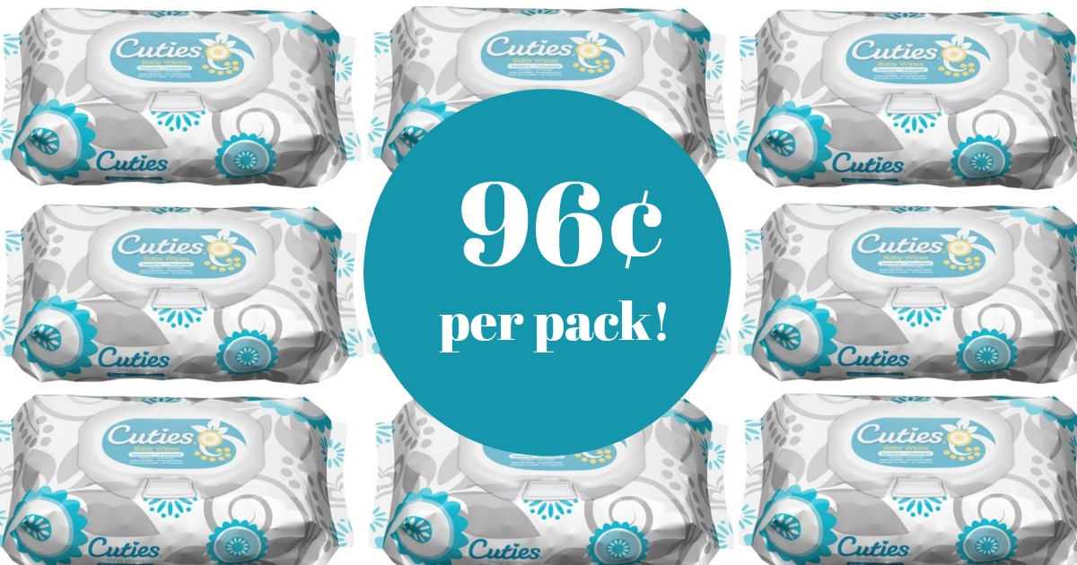Amazon Cuties Baby Wipes Only 96 162 Per Pack Mylitter
