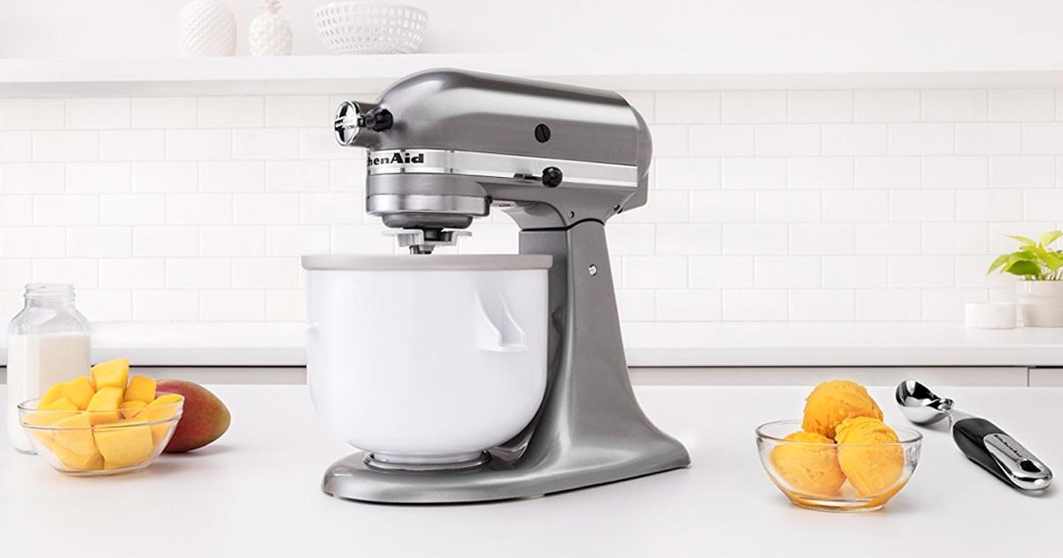 Amazon Kitchenaid Kica0wh Ice Cream Maker Attachment 47 99 Regular