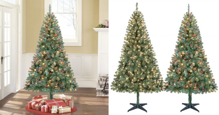 walmart cyber monday holiday time pre lit 65 madison pine green artificial christmas tree 3399 regular price 39 - Holiday Time Christmas Decorations