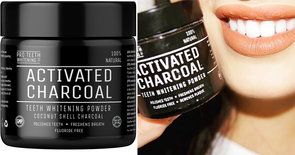 amazon activated charcoal natural teeth whitening powder regular price 30 mylitter. Black Bedroom Furniture Sets. Home Design Ideas