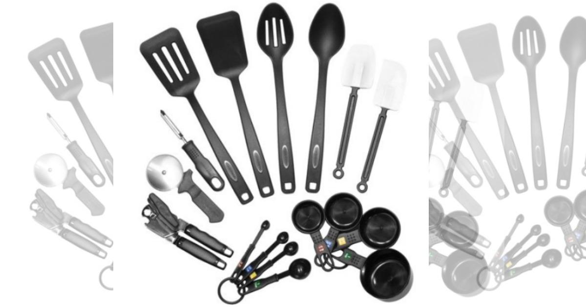 walmart: farberware classic 17-piece kitchen tool and gadget set
