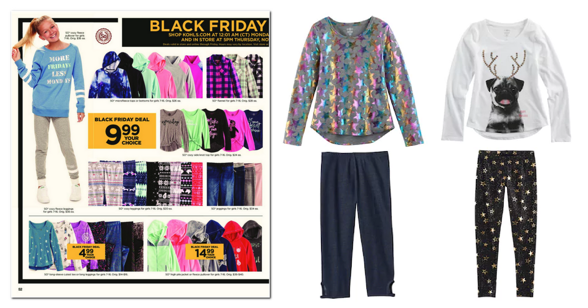 Kohls Black Friday Online Girls Top And Bottoms Only 4 99