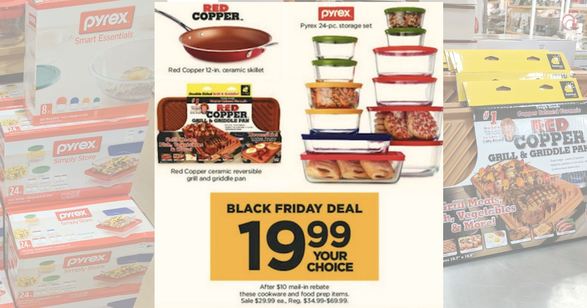 Kohls Black Friday Online: Red Copper U0026 Pyrex 24pc Storage Set Under $20