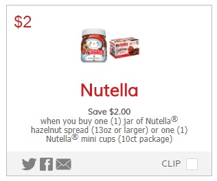 graphic relating to Nutella Printable Coupon identify Obtain Nutella Below $1.00 at Concentrate! - MyLitter - A single Package At