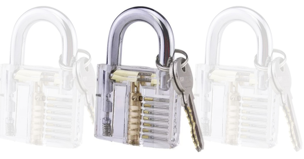 Fancy and Functional Puzzle Lover Lock Pick Padlock only