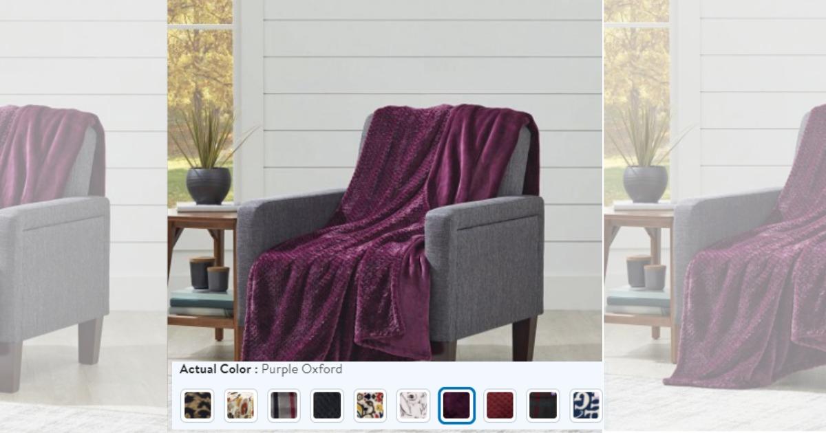 Walmart Better Homes Gardens Oversize Reversible Velvet Plush Throw Blanket Mylitter