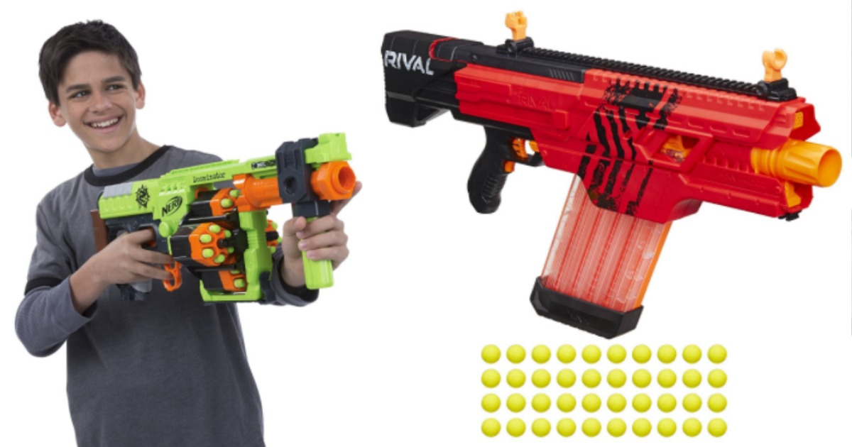 Amazon: Nerf War has Begun! Zombie Strike Doominator Blaster and Nerf Rival  Save up to 53%