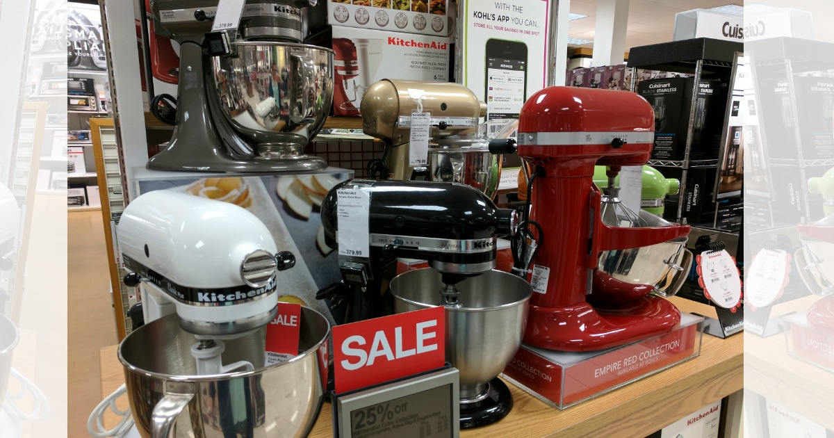 Cyber Monday Sale Kitchenaid Stand Mixer Deals At Kohl S