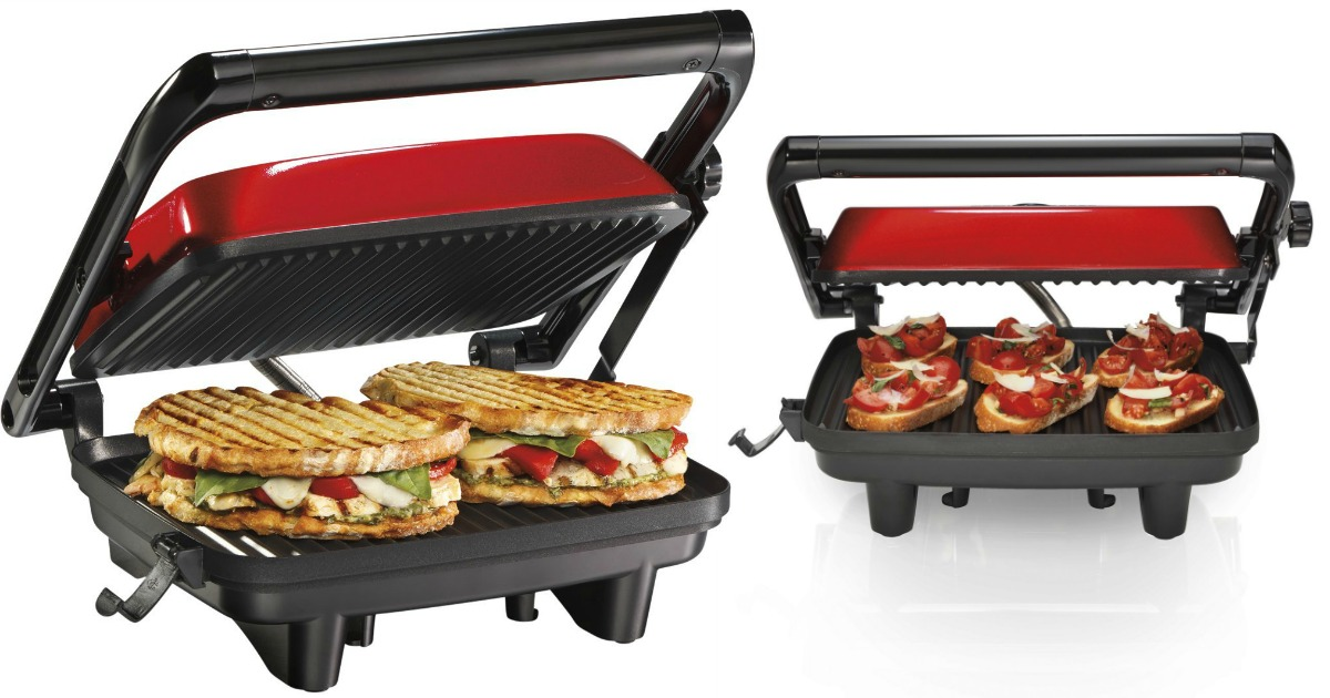 amazon hamilton beach panini press gourmet sandwich maker. Black Bedroom Furniture Sets. Home Design Ideas
