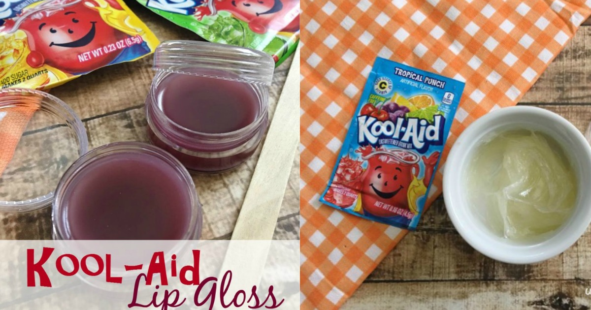 DIY Kool-aid Lip Gloss Gift Idea