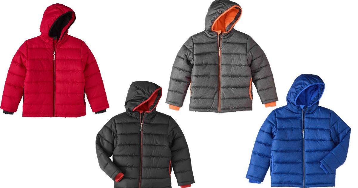 bc1935a10566 Walmart  Boys  Bubble Coat Jackets  9 (Reg.  18)