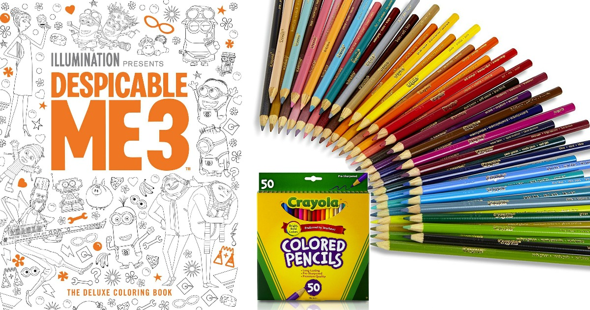Despicable Me 3 Coloring Book 638 50 Crayola Pencils 397
