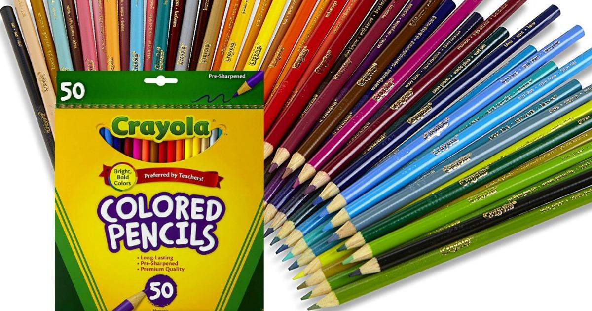 crayola 50 count colored pencils 3 97 reg 12 99