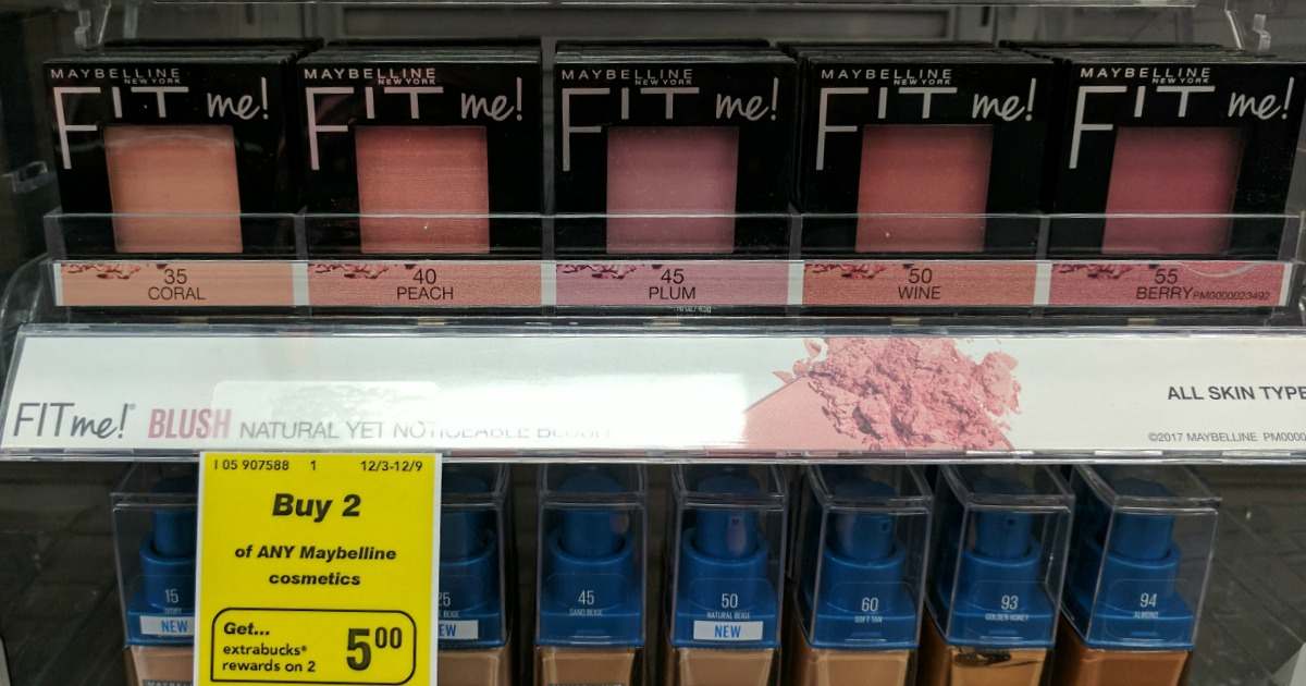 And, use (2) $2/1 Maybelline New York face product coupons from the 11/19 RP, exp. 12/16/2017. Pay: $5.58. Get a $5 EB Final Price: As low as $0.29 each ...