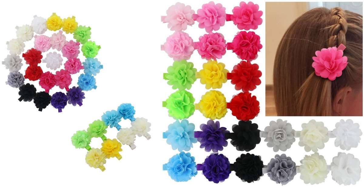 Amazon  Flowers Clips Boutique Hair Bows For Girls Headbands only ... 850fb705c5a