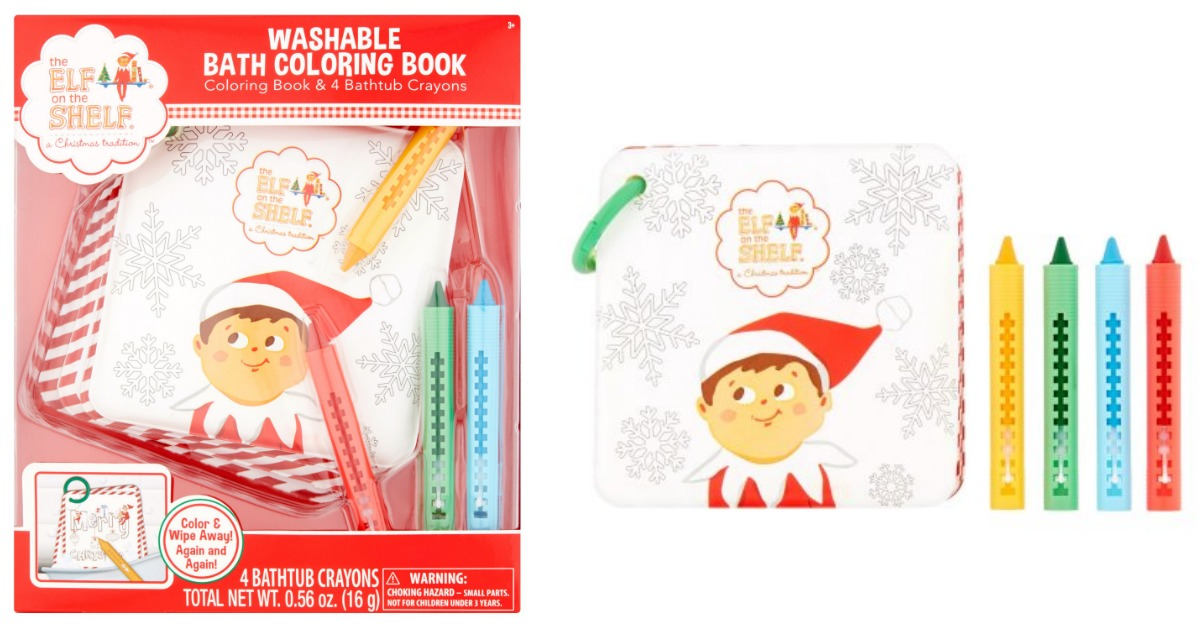 Walmart: The Elf on the Shelf Washable Bath Coloring Book Set only ...
