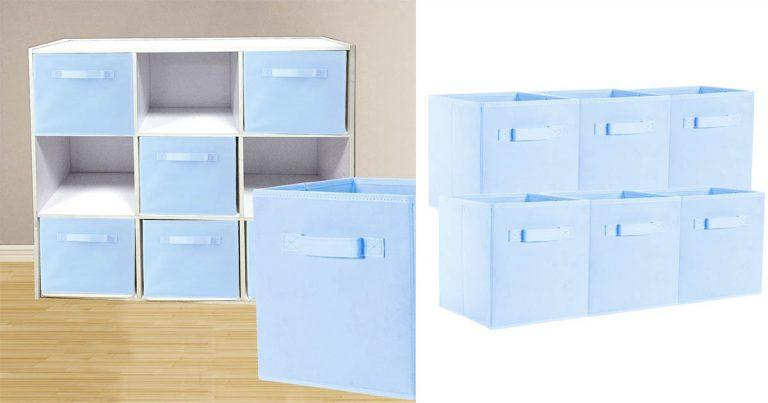 Amazon: ONu0027H Foldable Storage Cubes Cloth Baskets Bins $12.29 (Regular  Price $17.29)