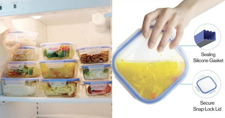 Glass Food Storage Containers With Locking Lids Interesting Amazon Glass Food Storage Containers Set With Airtight Locking Lids
