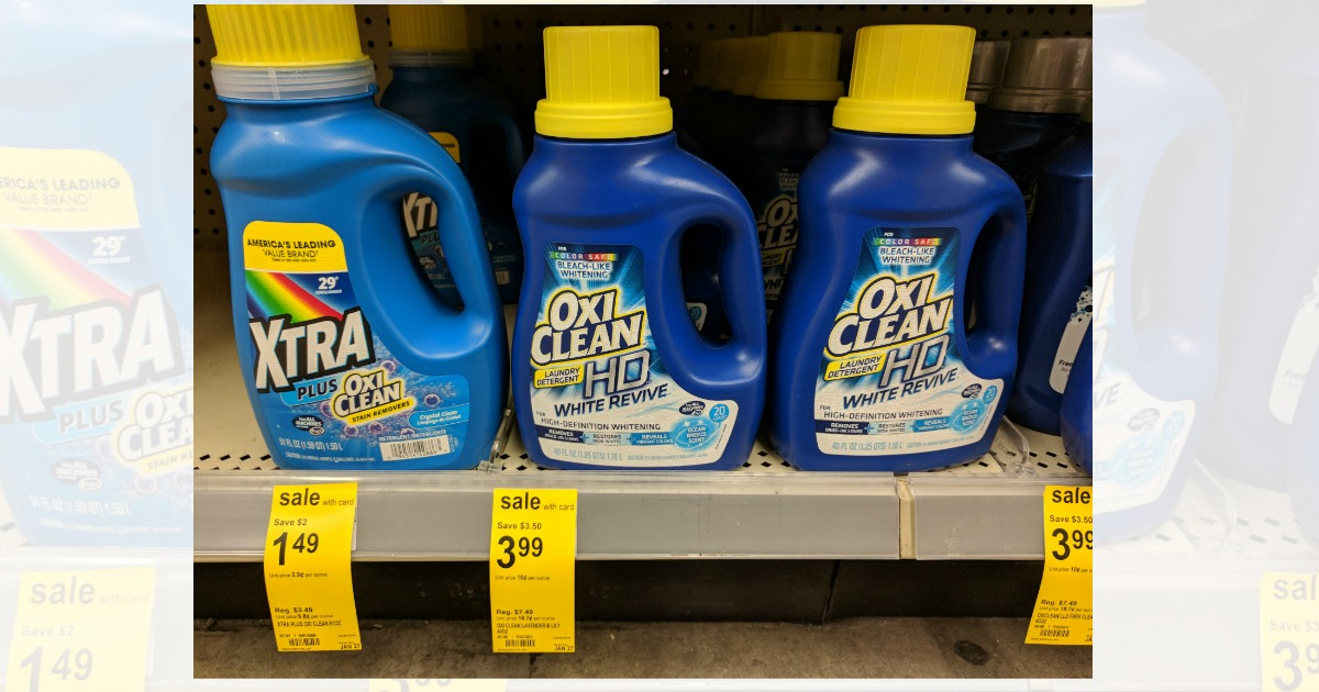 Walgreens Hot Deals On Oxiclean Laundry Detergent And L