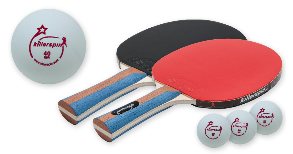 Amazon table tennis set 2 ping pong paddles and 3 ping for Table tennis 99