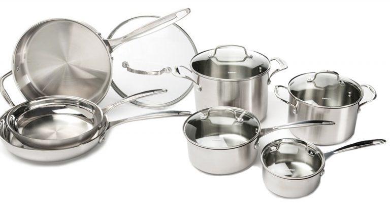 amazon cuisinart 12 piece stainless steel cookware set chrome regular price 465. Black Bedroom Furniture Sets. Home Design Ideas