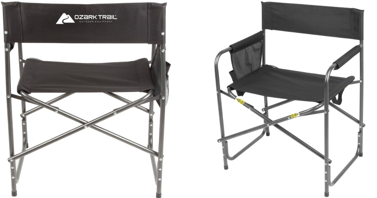 Brilliant Walmart Ozark Trail Comfort Director Chair With Side Pocket Ibusinesslaw Wood Chair Design Ideas Ibusinesslaworg