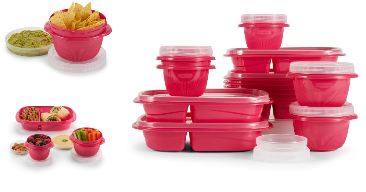 Amazon Rubbermaid TakeAlongs Assorted Food Storage Containers 40