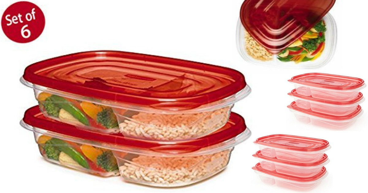 Rubbermaid Divided Food Storage Containers
