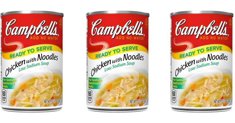 amazon: campbell's low sodium soup, chicken with noodles