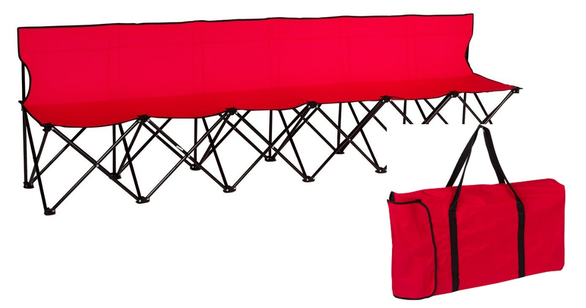 Multi-Seat Portable Folding Bench (Great for Sports Games and More ...