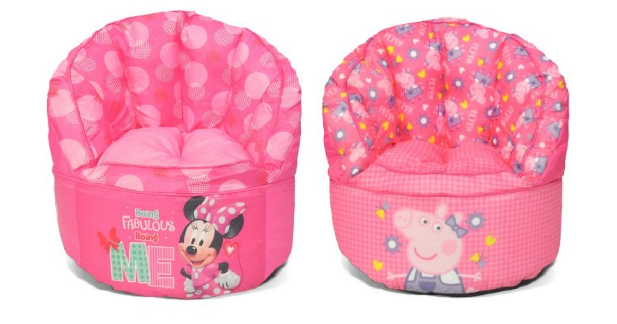 Kids Bean Bag Chairs Only 15 At Walmart Peppa Pig Minnie Mouse