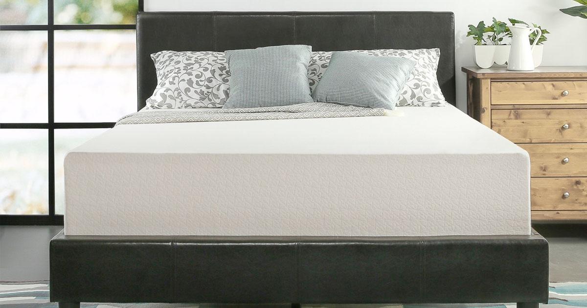 amazon zinus memory foam 12 inch green tea mattress queen 179 regular price 289 mylitter. Black Bedroom Furniture Sets. Home Design Ideas