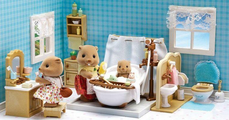 Amazon Calico Critters Deluxe Bathroom Set Reg - Calico critters bathroom