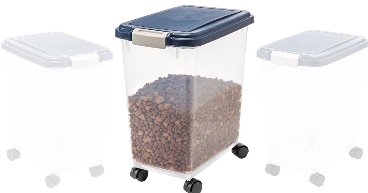 Amazon: IRIS Airtight Pet Food Storage Container Only $10.89 (Regular  Price: $24.99)
