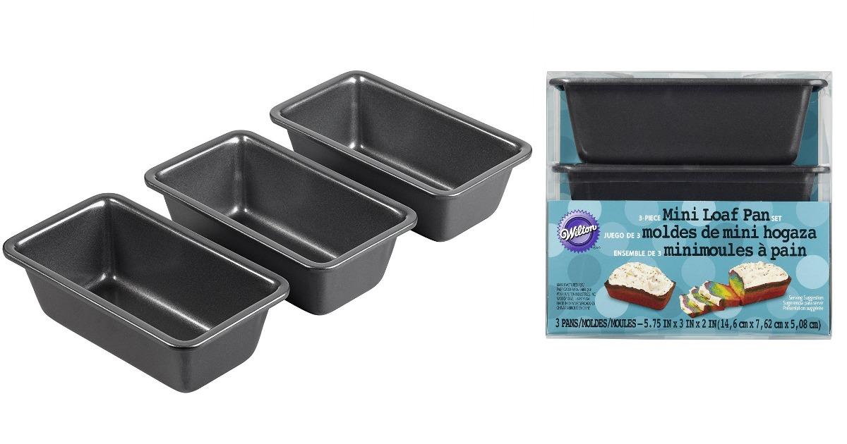 Amazon Wilton 3 Piece Mini Loaf Pan Set Only 6 99