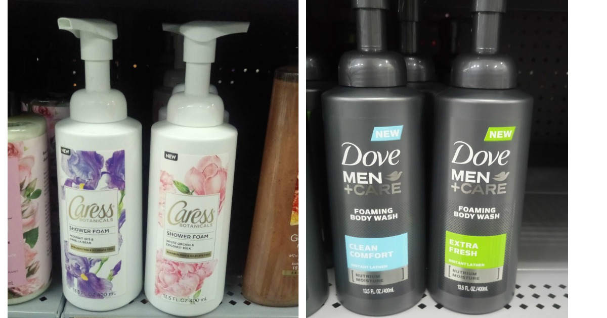 New Caress And Dove Foaming Body Wash Walmart Deals Mylitter One Deal At A Time