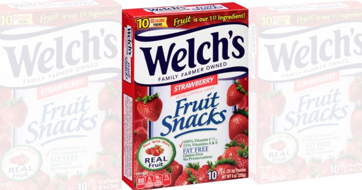 Welch's fruit snacks coupons 2018