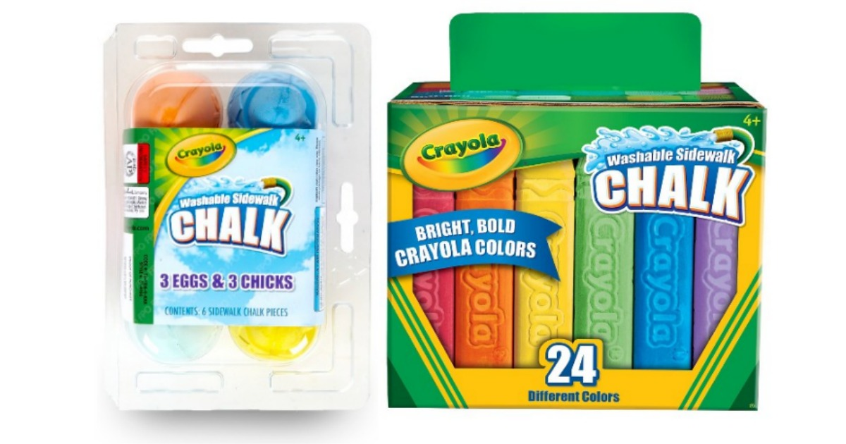 Crayola sidewalk chalk only 199 easter gifts mylitter one is offering 20 off crayola chalk items and that brings prices down to even under 100 on some items these make perfect easter basket and spring gifts negle Image collections
