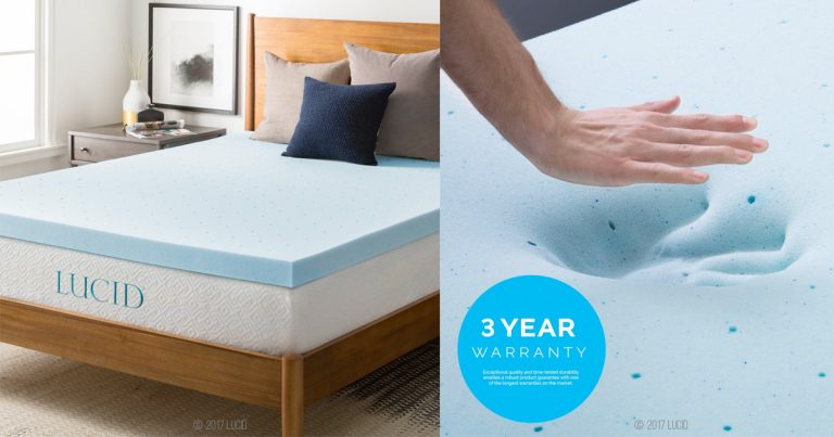 amazon foam mattress topper Amazon: LUCID 3