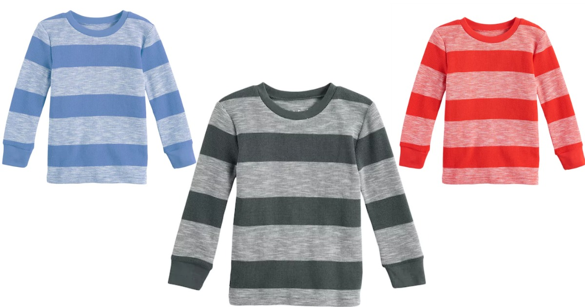 Kohls Baby Boy Clothes Simple Kohls Baby Boy Jumping Beans Thermal Striped Tee Only 60560 Shipped
