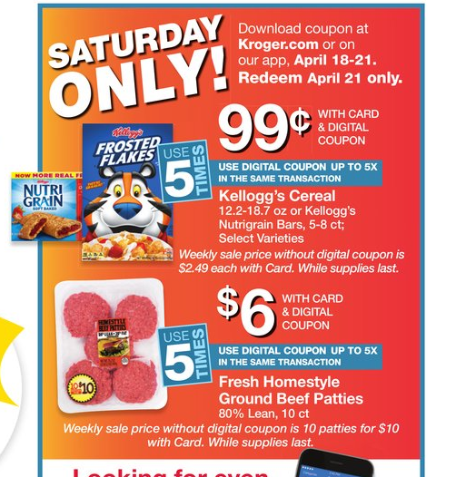 Kroger: Get Kellogg's Cereal only $0 99 - MyLitter - One Deal At A Time