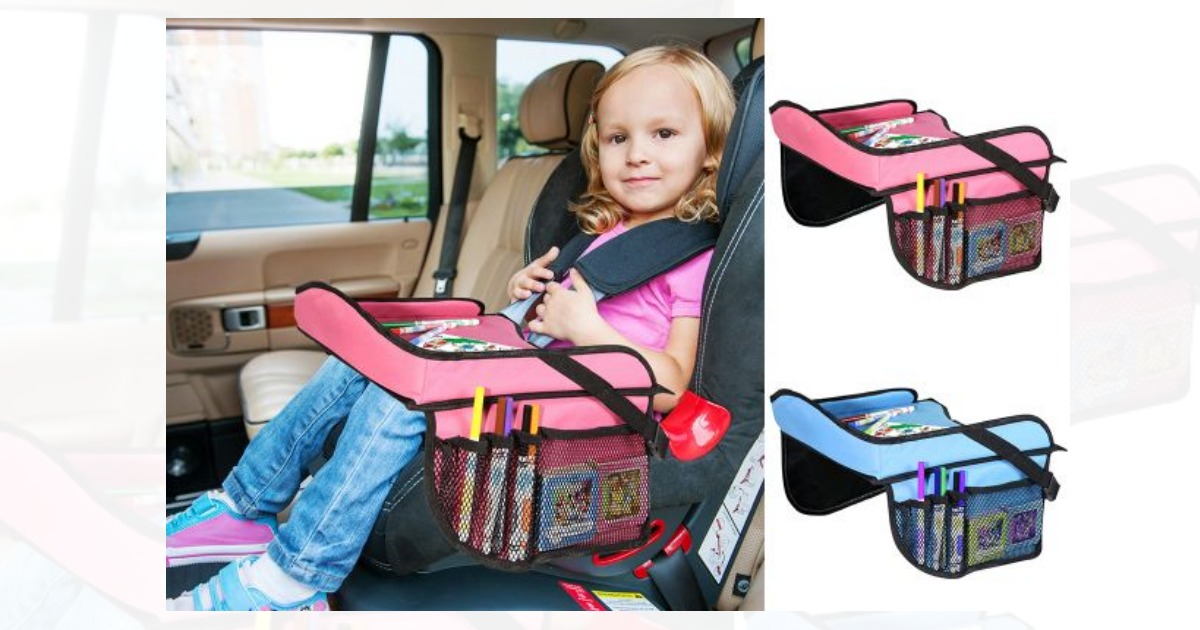 Groopdealz: Toddler Car Seat Travel Tray with Storage Pocket ...