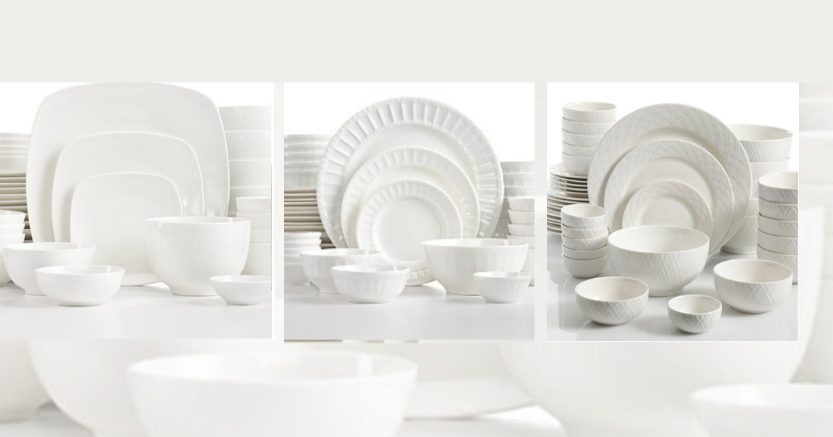 Macy\u0027s White Elements 42 piece Dinner Set only $37.99 (Regular Price $120) & Macy\u0027s: White Elements 42 piece Dinner Set only $37.99 (Regular ...