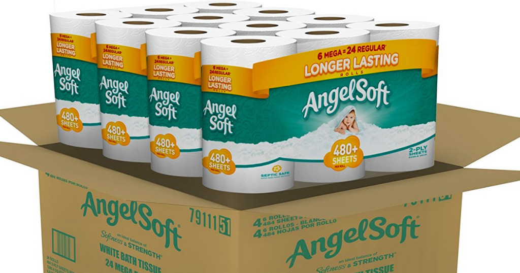 Amazon Angel Soft Toilet Paper Mega Roll 24 Pack For As