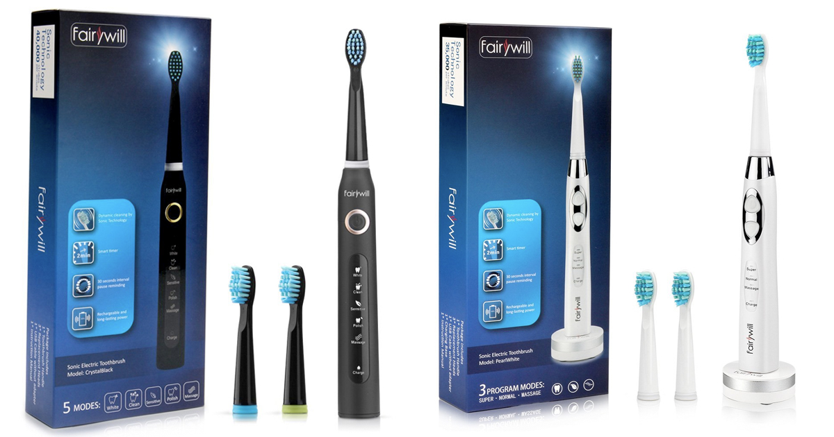 Amazon Save On Fairywill Electric Toothbrush Mylitter