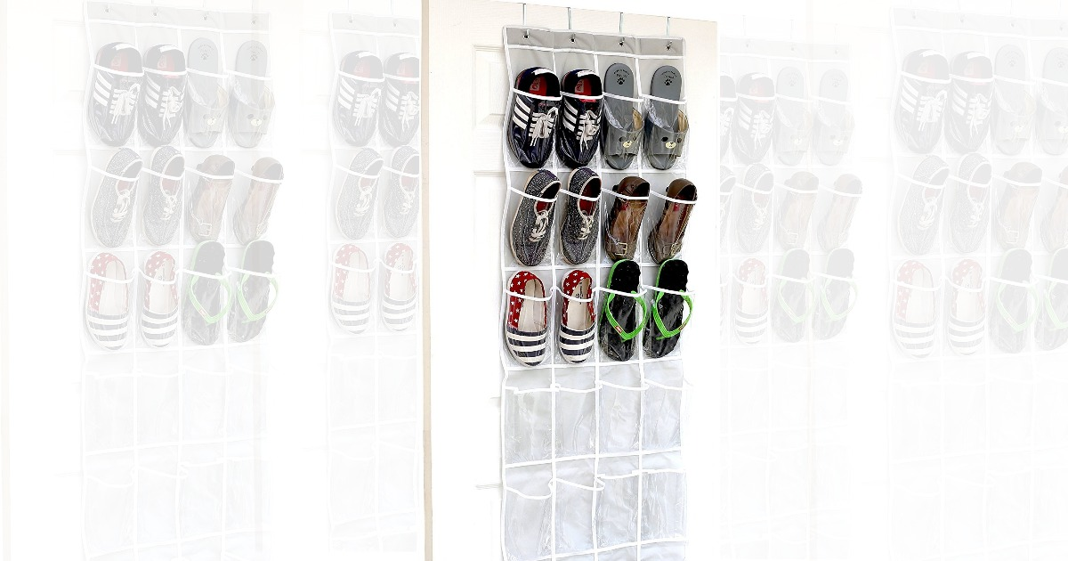 SimpleHouseware Clear Over the Door Hanging Shoe Organizer $8.47  sc 1 st  MyLitter & Amazon: SimpleHouseware Clear Over the Door Hanging Shoe Organizer ...