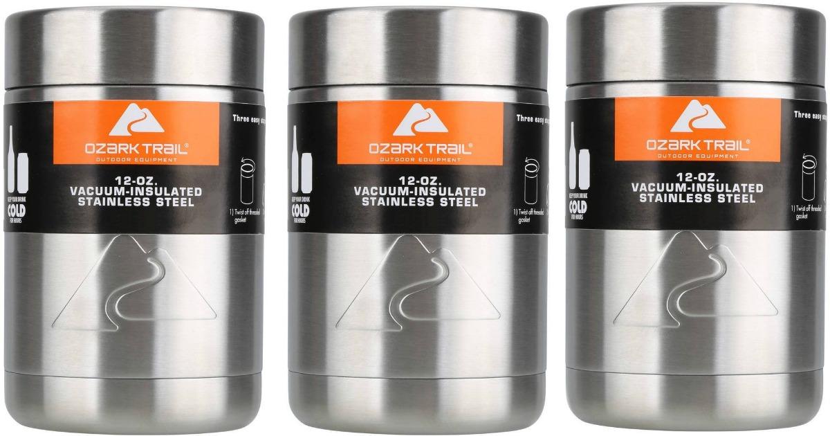 7e5e4f7e26d Walmart: 4-Pack Ozark Trail 12-Ounce Vacuum Insulated Can Coolers $12. `