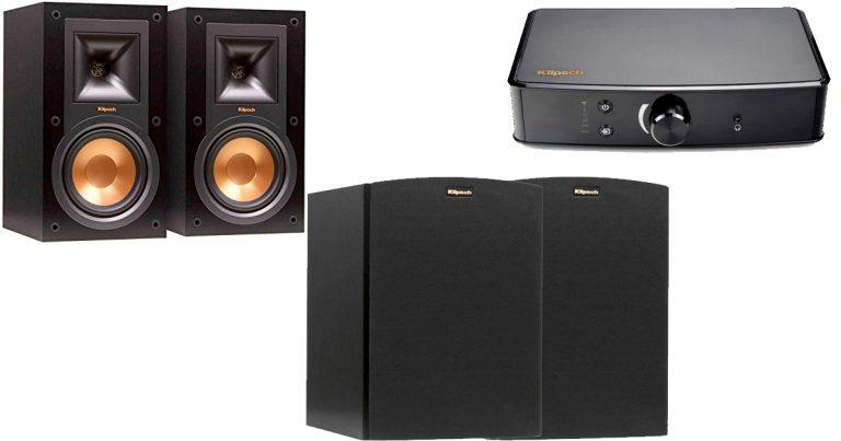 Amazon Klipsch Bookshelf Speakers And Powergate Amplifier Bundle 37999 Regular Price 700
