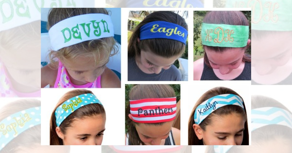 Groopdealz Personalized Headbands Only 4 99 Regular Price 15